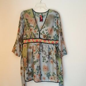 Johnny Was silk women blouse, size S, O164